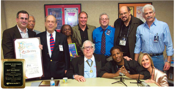 Ray Bradbury appears at the Greater Los Angeles Writers Society