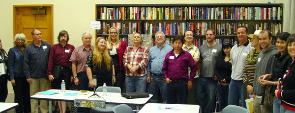 Alica and Marty and some of the members of Massoglia at the Greater Los Angeles Writers Society